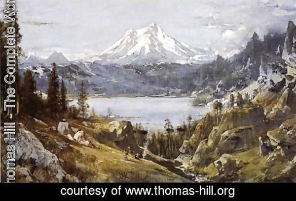 Thomas Hill - Mount Shasta from Castle Lake