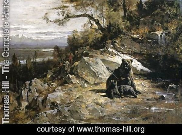 Thomas Hill - Squaw Valley near Now-ow-wa (or Old Grizzly's Den Invaded)