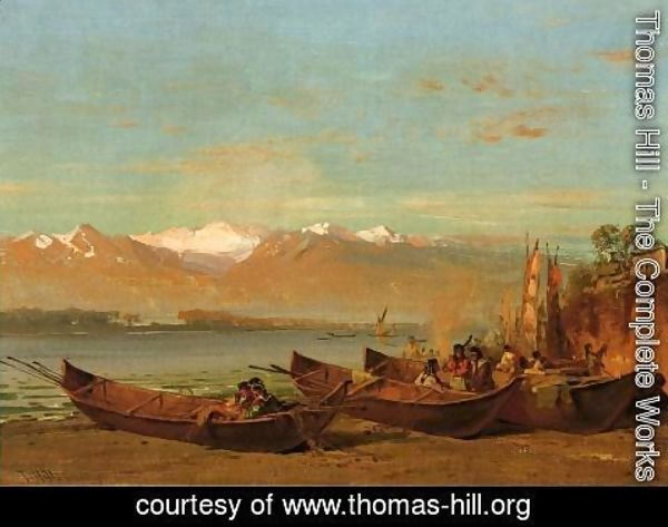 Thomas Hill - The Salmon Festival, Columbia River