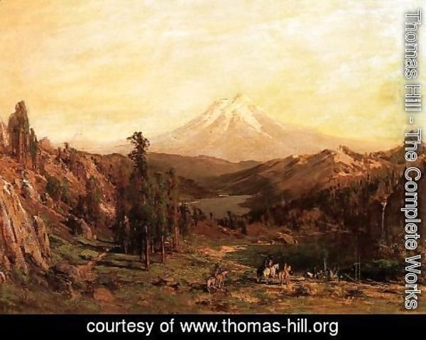 Thomas Hill - Mount Shasta and Castle Lake, California