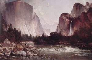 Thomas Hill - Fishing on the Merced River