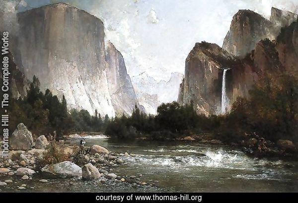 Piute Fishing on the Merced River, Yosemite Valley
