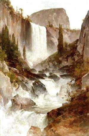 Thomas Hill - Falls in Yosemite