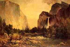 Thomas Hill - Lone Fisherman in Yosemite
