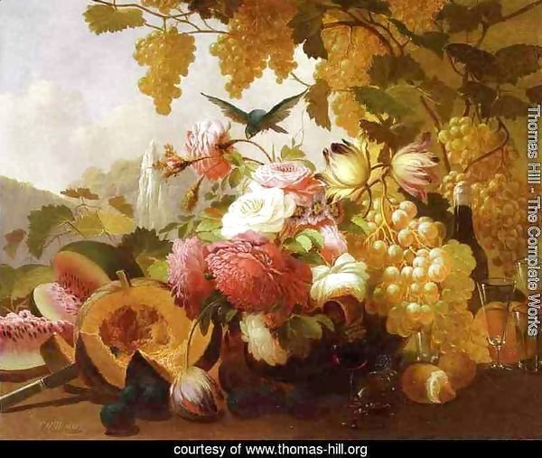 Still Life with roses and Wine Glasses
