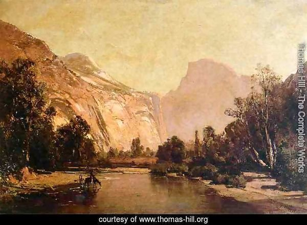 Piute Indians, Royal Arches and Domes, Yosemite Valley
