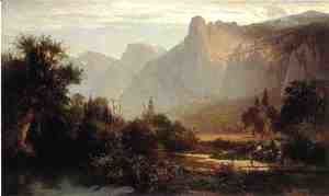 Thomas Hill - Piute Indian family in Yosemite Valley.