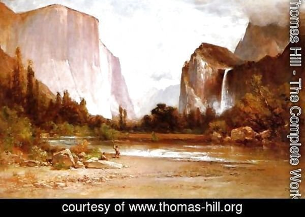 Thomas Hill - Piute Indians Fishing in Yosemite