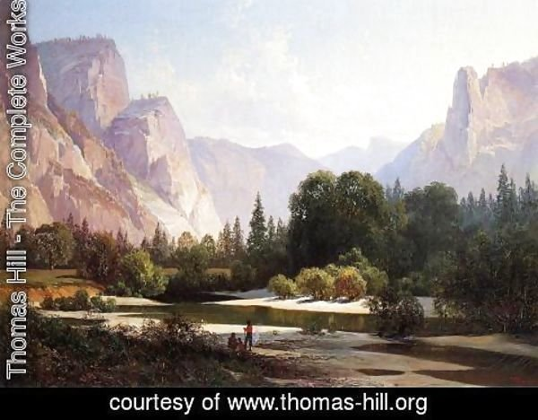 Thomas Hill - Piute Indians in Yosemite Valley