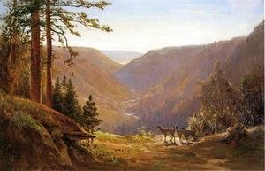 Thomas Hill - Valley with Deer