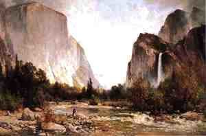 Thomas Hill - Fishing on the Merced River Yosemite Valley 1891