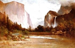 Indians Fishing in Yosemite 1900