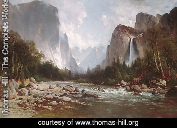 View of Yosemite Valley 1885