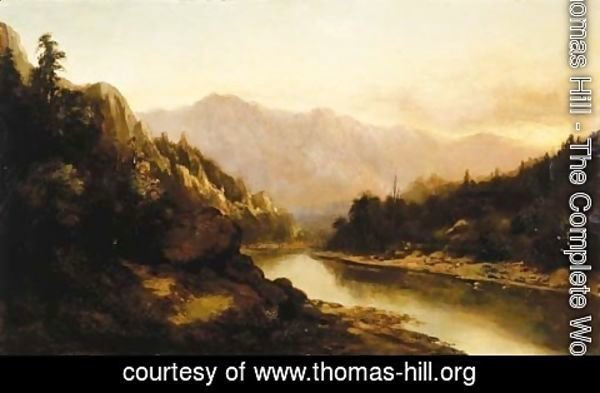 Thomas Hill - Sunrise in the Mountains