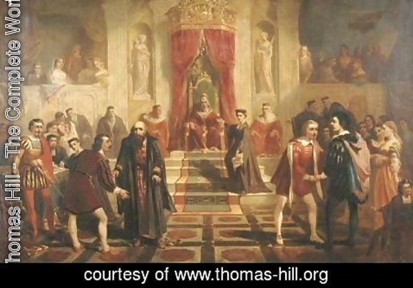 Thomas Hill - The Trial Scene from the Merchant of Venice
