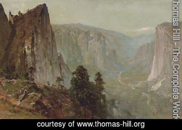 Thomas Hill - Westward View from Union Point, Yosemite Valley