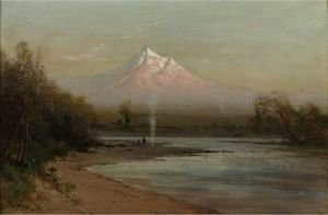 Thomas Hill - Evening At Mt. Shasta