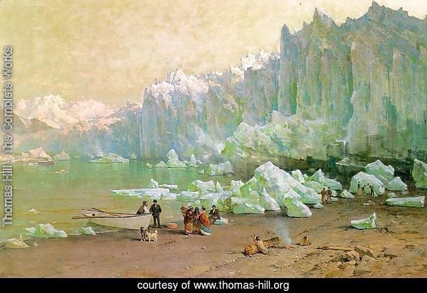 The Muir Glacier in Alaska  1887-88