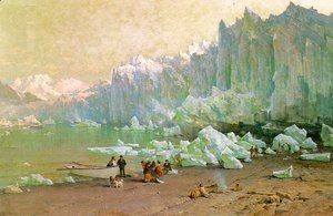 Thomas Hill - The Muir Glacier in Alaska  1887-88