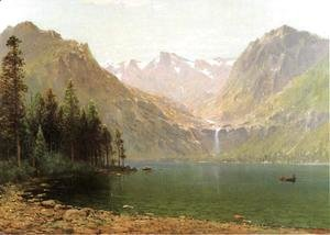 Thomas Hill - View of Lake Tahoe Looking Across Emerald Bay  1874